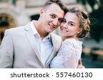 portrait of elegant wedding... | Shutterstock . vector #557460130