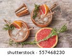 cocktails with grapefruit... | Shutterstock . vector #557468230