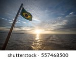 Brazilian Flag On A Boat