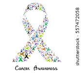 cancer awareness various color... | Shutterstock .eps vector #557472058