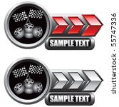 checkered flags and tires red...   Shutterstock .eps vector #55747336