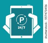 steady parking service 24 7  ... | Shutterstock .eps vector #557473456