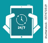 24 7 steady concept symbol  ... | Shutterstock .eps vector #557473519
