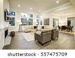 chic light living room design... | Shutterstock . vector #557475709