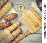 baking menu or recipe concept... | Shutterstock . vector #557477230