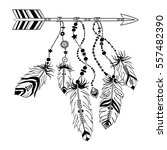 vector illustration with tribal ... | Shutterstock .eps vector #557482390