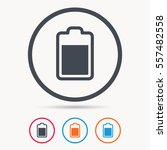 battery power icon. charging... | Shutterstock .eps vector #557482558