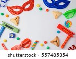 jewish holiday purim concept... | Shutterstock . vector #557485354