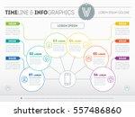 vector template of a info chart ... | Shutterstock .eps vector #557486860