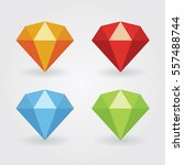 gem icons in various colours | Shutterstock .eps vector #557488744