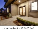 new construction home exterior... | Shutterstock . vector #557489560