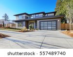 new construction home exterior... | Shutterstock . vector #557489740