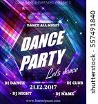 night dance party poster... | Shutterstock .eps vector #557491840