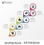 infographics template. timeline ... | Shutterstock .eps vector #557492014