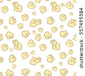 seamless pattern with popcorn.... | Shutterstock .eps vector #557495584