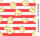 seamless pattern with popcorn.... | Shutterstock .eps vector #557495608