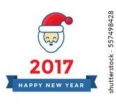 smile santa claus character... | Shutterstock .eps vector #557498428
