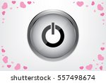 power button icon vector... | Shutterstock .eps vector #557498674