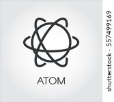 simple black icon of atom....   Shutterstock .eps vector #557499169