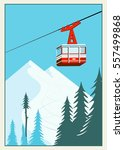 vintage winter cartoon... | Shutterstock .eps vector #557499868