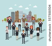 business people in community... | Shutterstock .eps vector #557500504