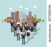 group of  business people in...   Shutterstock .eps vector #557500534
