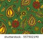 damask seamless pattern with... | Shutterstock .eps vector #557502190