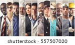 montage about different... | Shutterstock . vector #557507020