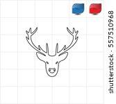illustration of a deer head... | Shutterstock .eps vector #557510968