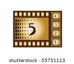 retro movie countdown   Shutterstock .eps vector #55751113