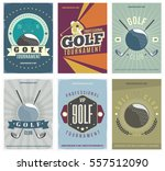 golf tournament colored posters ... | Shutterstock .eps vector #557512090