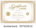 certificate retro design... | Shutterstock .eps vector #557524513