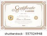 certificate retro design... | Shutterstock .eps vector #557524948