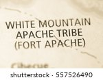 white mountain apache tribe.... | Shutterstock . vector #557526490