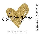 vector gold glitter heart.... | Shutterstock .eps vector #557529919