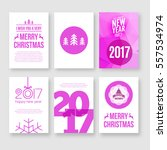 happy new year 2017 and merry... | Shutterstock .eps vector #557534974