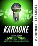 karaoke party invitation poster ... | Shutterstock .eps vector #557535058