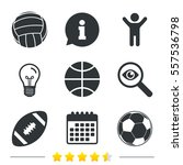 sport balls icons. volleyball ... | Shutterstock .eps vector #557536798