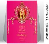 indian wedding invitation card... | Shutterstock .eps vector #557539030