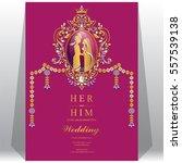 indian wedding invitation card... | Shutterstock .eps vector #557539138
