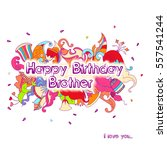 birthday greeting card design... | Shutterstock .eps vector #557541244