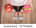 close up view of woman making... | Shutterstock . vector #557546860