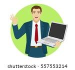 ok  smiling businessman show a...