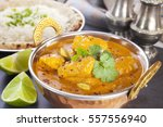 butter chicken curry  ... | Shutterstock . vector #557556940