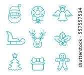christmas xmas new year winter... | Shutterstock .eps vector #557557534