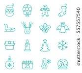 christmas xmas new year winter... | Shutterstock .eps vector #557557540