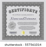 grey sample certificate. money... | Shutterstock .eps vector #557561014