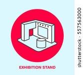 exhibition banner stand vector... | Shutterstock .eps vector #557563000