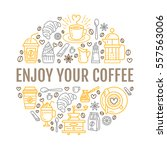 coffee making poster template.... | Shutterstock .eps vector #557563006