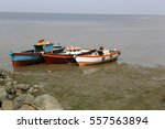 Boats On A Dried Sea Shore....